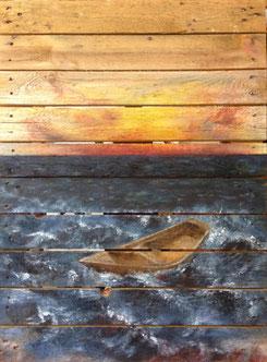Wasser hat keine Balken, Ausstellung ver-ge-hen, Ausschnitt, Annette Palder, Palder, Künstler, artist, Haan, Düsseldorf, tOG, take OFF GALLERY, Galerie Düsseldorf, Duesseldorf, Kunstraum, moderne Kunst
