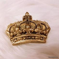 Shabby Ornament kleine Krone in gold