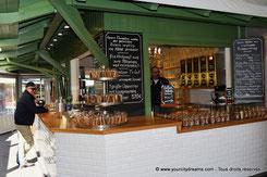 pause café au Viktualienmarkt, marché de Munich