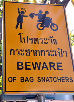 Handtaschendiebstahl in Pattaya sind an der Tagesordnung.