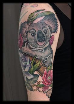 tattoo artist nrw neo traditional koala koalabear