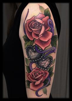 tattoo artist nrw neo traditional Rose Diamonds