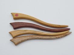 Haarstab, Haarnadel aus Holz