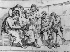 Schon die alten Griechen wussten es intuitiv: gemeinsames Denken und Philosophieren in Gruppen bringt alle weiter...