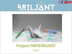 Briljant Project Papierkunst bij Verrijkend Projectonderwijs voor leerlingen in de plusklas. Hoogbegaafd, hoogbegaafdheid, basisonderwijs, basisschool, leerkracht, origami, wiskundig vouwen, uitgeverij Pica.