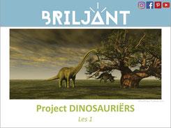 Briljant Project Dinosauriërs bij Verrijkend Projectonderwijs voor leerlingen in de plusklas. Dinosaurussen, hoogbegaafd, hoogbegaafdheid, basisonderwijs, basisschool, leerkracht, uitgeverij Pica.