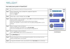 Briljant onderwijs instructie poster in PowerPoint maken. Hoogbegaafd, hoogbegaafdheid, plusklas, basisschool, basisonderwijs, werkstuk