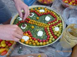 Tarte avec les légumes bio du jardin