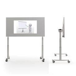 Höhenverstellbarer Schreibtisch als Projektionsfläche