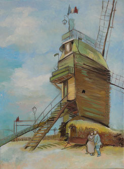 the mill of galette, Vincent Van Gogh, oil on canvas, cm30x40, 2014
