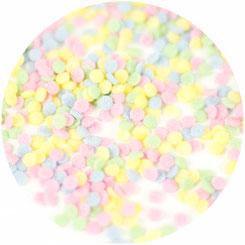 Zuckerstreudekor in Konfettiform für Kuchen im Glas