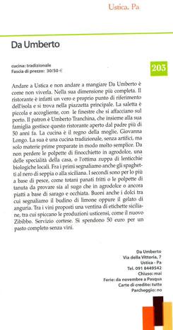 guida ai ristoranti del giornale di Sicilia