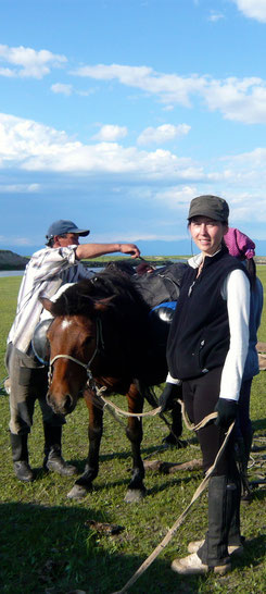 Le cheval de bât face au Khovsgol