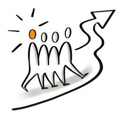 Teamentwicklung, gemeinsam weiterkommen, Kommunikation im Team verbessern, gemeinsam Ziele erreichen