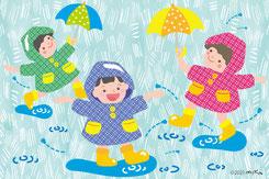梅雨のイラストへ