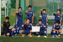 男子準優勝 中央中学校・那加中学校