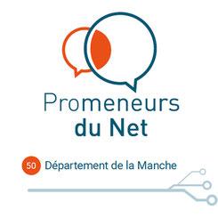 Les Promeneurs du Net sont reconnaissables au logo qu'ils affichent sur leur profil Facebook.