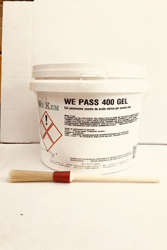 passivante in gel secchio da 3KG acciaio inox