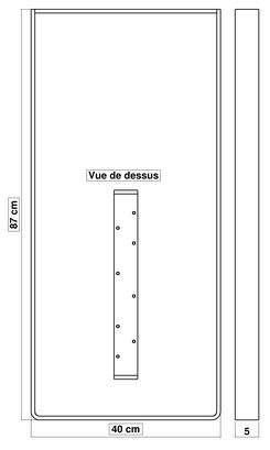 Dimensions pied de table BaYa 870 x 400