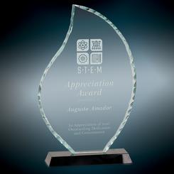 flame facet glass award