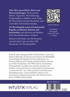 Das große Buch der Werte - Cover Rückseite Klappentext