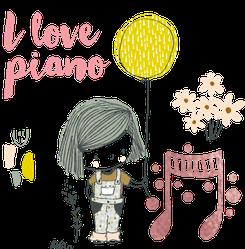 福岡市ピアノ教室そらピアノ教室少女イラスト