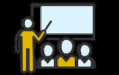 Le Collège CEI dispense des formations en classe physique pour ses programmes de courtage, inspection et assurance. Image sous propriété exclusive du collège CEI, réutilisation interdite