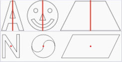 Achsensymmetrische und Punktsymmetrische Objekte (wikipedia, BenKla und Wfstb)