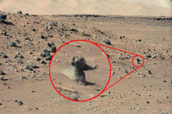 """Winkendes"" Marsmännchen? (NASAJPL-CaltechMSSS, Curiosity)"