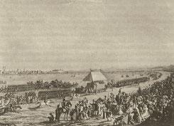 Das Pferderennen auf der Theresienwiese um 1811 (wikipedia, gemeinfrei)