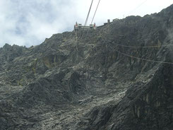 Llegada en teleférico al Pico Espejo (wikipedia, Rubenfr)