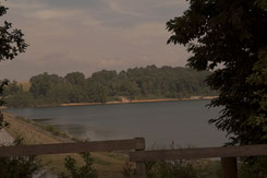 vue sur le lac du Gabas