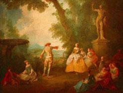 Sculptures et objets antiques et à l'antique dans les scènes galantes et les portraits peints en France de Watteau à Boucher