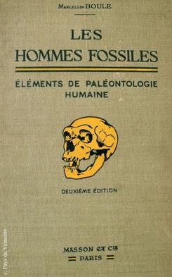 Couverture de la deuxième édition de l'ouvrage de Marcellin Boule - Bibliothèque Musée du Veinazès.