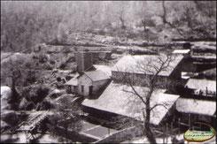 Les bâtiments de la mine à Bancarel