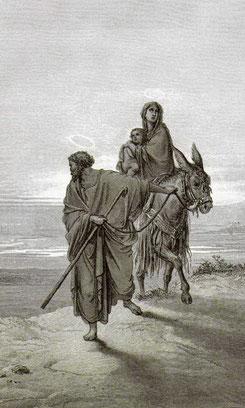"""Поль Гюстав Доре, """"Втеча в Єгипет"""" (1866 р.)"""