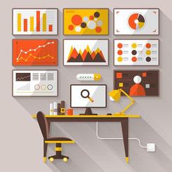 La cartographie en définissant les principaux processus de l'entreprise et leurs objectifs définit la structure du tableau de bord de l'organisation.