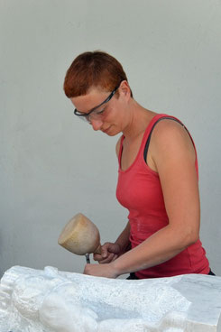Bildhauerin Daniela Wögerer