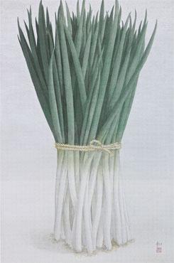 九条葱 (2011)  混合技法 / 90x60cm