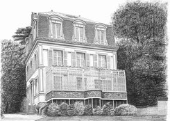 L'Atelier de Capucine Minot - Dessin personnalisé sur commande - Idée cadeau original : Dessins de Maison de famille , Maisons de vacances , Domaine , Château
