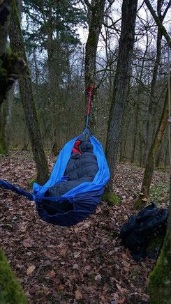 Hängematte Silk Traveller von Amazonas, zwischen Bergahorn, Survival-Overnight