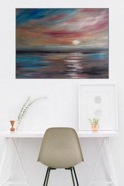 Wanddeko mit einem modernen, abstraktem Gemälde online kaufen.