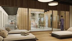 Visualisierung neuer Saunabereich