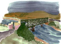 Pose des explosifs sous le pont -Dobro