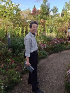El profesor Yamazaki en un parque a las afueras de Kioto.