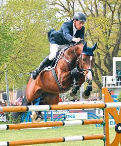 Michael Kölz und Dipylon landeten bei der Deutschen Meisterschaft in Balve auf dem 12. Rang (Foto: bb)