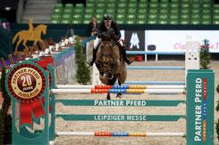 Der diesjährige Sieger des Finals des W. Seineke-Partner Pferd-Cups - Matthias Lucas aus Penig, Foto: Sportfoto Lafrentz