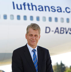 Lufthansa exect Harry Hohmeister announced the LCCneo delay  /  company courtesy