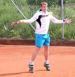 Andreas Gruhler gewann sein Einzel in zwei Sätzen
