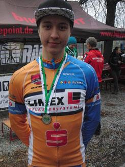 Foto: Maxime Glöckner beherrschte die Querfeldeinsaison  und gewann bei den Titelkämpfen verdient Silber